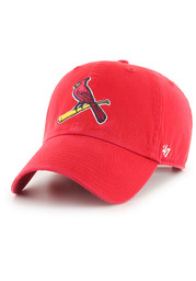 St Louis Cardinals Youth 47 Clean Up Adjustable Hat - Red