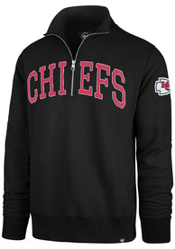 Kansas City Chiefs 47 Upstate Striker 1/4 Zip Fashion - Black