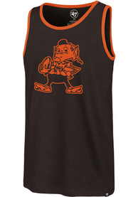 Cleveland Browns 47 Pop Shadow Imprint Tank Top - Brown