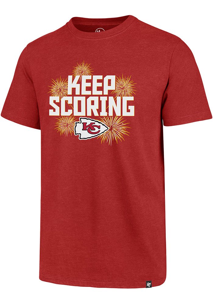 47 Kansas City Chiefs Red Keep Scoring Short Sleeve T Shirt - Image 1