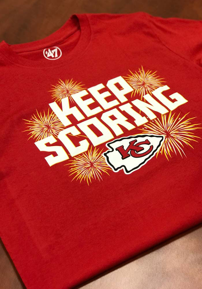 47 Kansas City Chiefs Red Keep Scoring Short Sleeve T Shirt - Image 3
