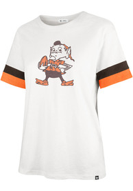 Cleveland Browns Womens 47 Frankie T-Shirt - White