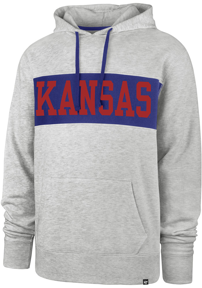 '47 Kansas Jayhawks Grey Chest Pass Hoodie