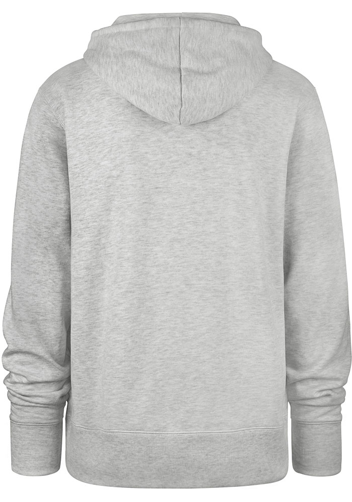 47 Michigan State Spartans Mens Grey Chest Pass Long Sleeve Hoodie - Image 2