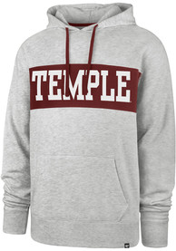 '47 Temple Owls Grey Chest Pass Hoodie