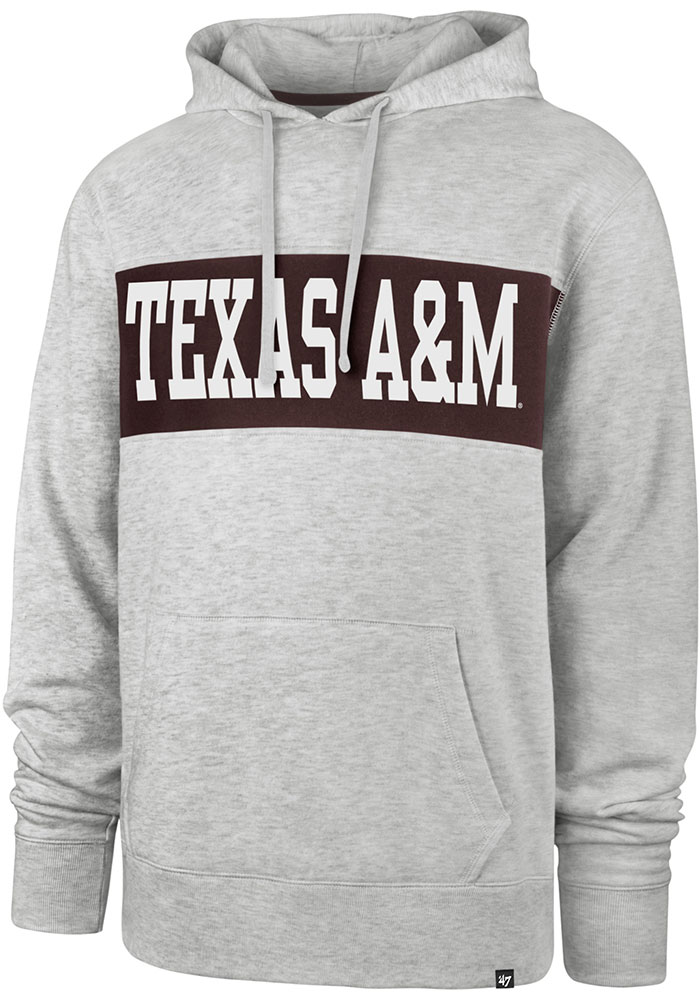 '47 Texas A&M Aggies Grey Chest Pass Hoodie