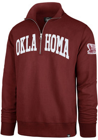 '47 Oklahoma Sooners Crimson Upstate Striker 1/4 Zip Fashion Pullover