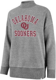 '47 Oklahoma Sooners Womens Ivy Mock Neck Grey Crew Sweatshirt