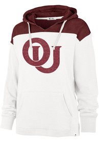 '47 Oklahoma Sooners Womens White Emerson Colorblock Hoodie