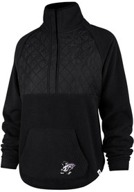 '47 K-State Wildcats Womens Vail Black 1/4 Zip Pullover