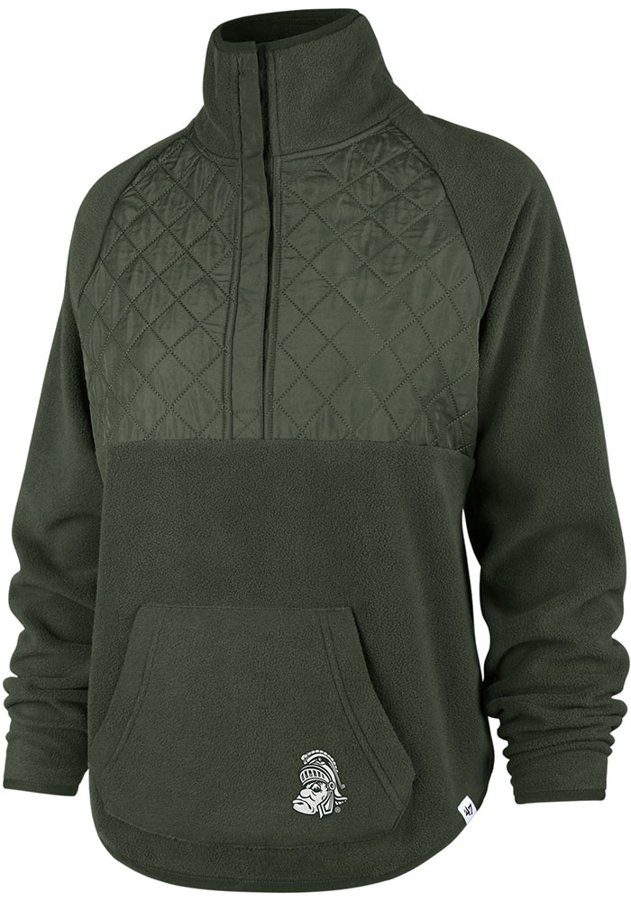 '47 Michigan State Spartans Womens Green Vail 1/4 Zip Pullover - Image 1