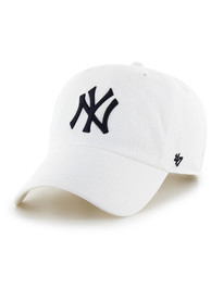 New York Yankees 47 Clean Up Adjustable Hat - White