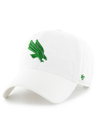 North Texas Mean Green 47 Clean Up Adjustable Hat - White