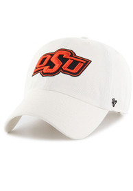 Oklahoma State Cowboys 47 Clean Up Adjustable Hat - White