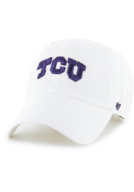 TCU Horned Frogs 47 Clean Up Adjustable Hat - White