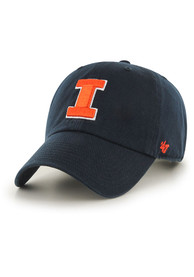 Illinois Fighting Illini 47 Clean Up Adjustable Hat - Navy Blue