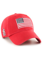 47 St Louis Cardinals Heritage Front Clean Up Adjustable Hat - Red