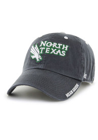 North Texas Mean Green 47 Ice Clean Up Adjustable Hat - Charcoal