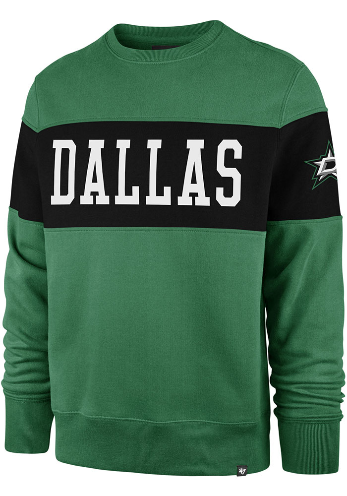 47 Dallas Stars Mens Kelly Green Interstate Long Sleeve Fashion Sweatshirt - Image 1