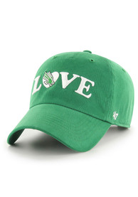 North Texas Mean Green Womens 47 Love Script Clean Up Adjustable - Green