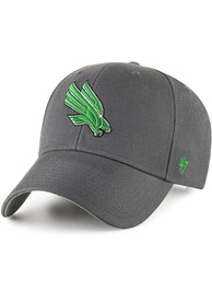 North Texas Mean Green 47 MVP Adjustable Hat - Charcoal