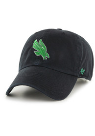 North Texas Mean Green 47 Clean Up Adjustable Hat - Black
