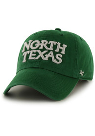 North Texas Mean Green 47 Script Clean Up Adjustable Hat - Green