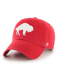 Buffalo Bills 47 Retro Clean Up Adjustable Hat - Red