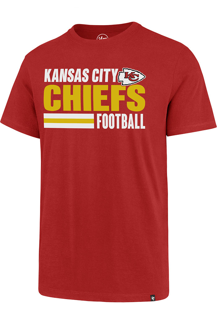 Kansas City Chiefs 47 Stacked Stripe Rival T Shirt - Red