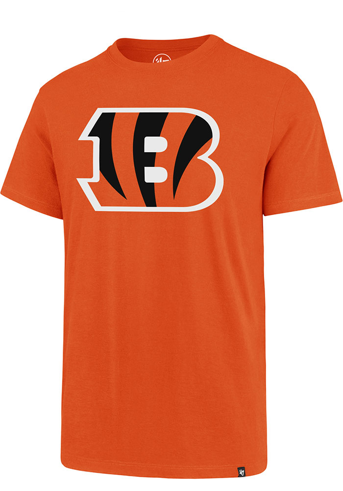 Cincinnati Bengals 47 Imprint Super Rival T Shirt - Orange