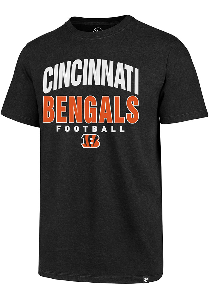 Cincinnati Bengals 47 Track Down Club T Shirt - Black