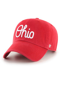 Ohio State Buckeyes 47 Script Clean Up Adjustable Hat - Red