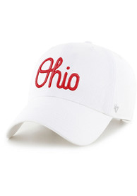 Ohio State Buckeyes 47 Script Clean Up Adjustable Hat - White