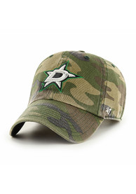 Dallas Stars 47 Clean Up Adjustable Hat - Green