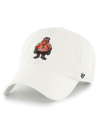 Gritty Philadelphia Flyers 47 Mascot Clean Up Adjustable Hat - White