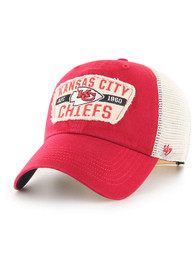 Kansas City Chiefs 47 KANSAS CITY CHIEFS VINTAGE RED CRAWFORD 47 CLEAN UP Snapback - Red