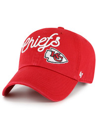 Kansas City Chiefs Womens 47 KANSAS CITY CHIEFS RED MILLIE 47 CLEAN UP Adjustable - Red