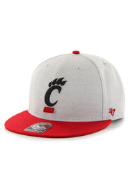 Cincinnati Bearcats 47 CINCINNATI BEARCATS GRAY CATFISH Adjustable Hat - Grey