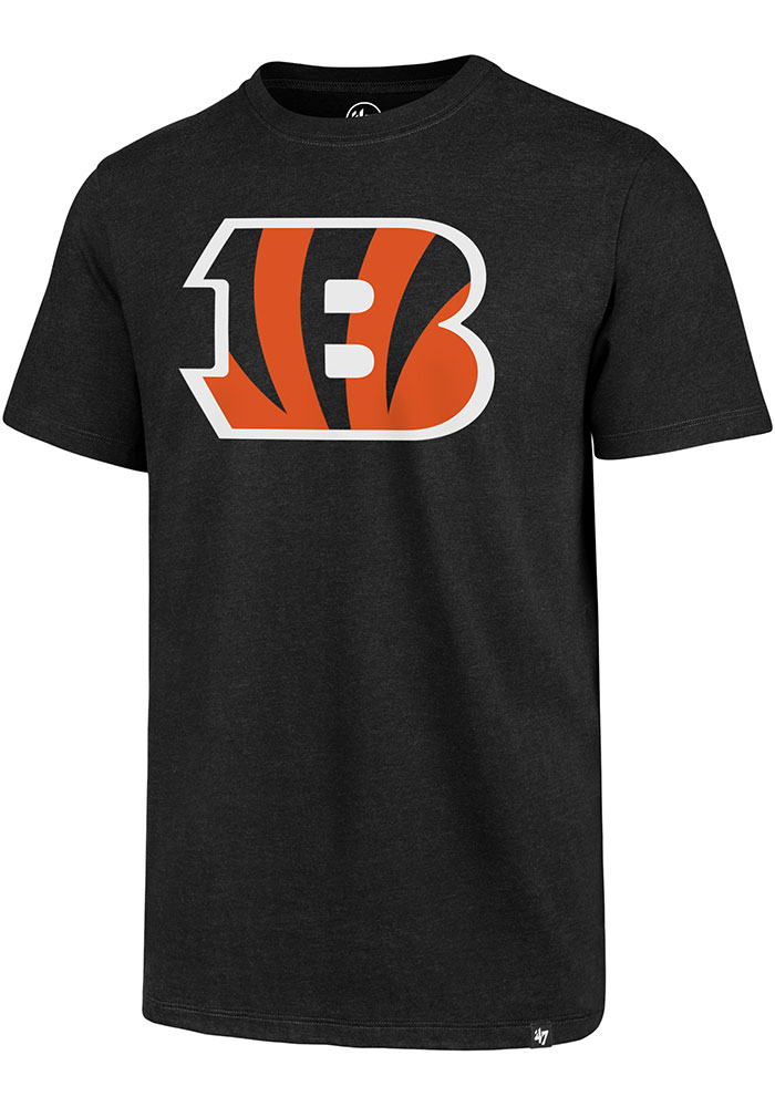 Cincinnati Bengals 47 Primary Logo Club T Shirt - Black