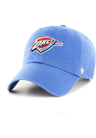 Oklahoma City Thunder 47 Clean Up Adjustable Hat - Blue