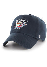 Oklahoma City Thunder 47 Clean Up Adjustable Hat - Navy Blue