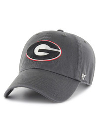 Georgia Bulldogs 47 Clean Up Adjustable Hat - Charcoal