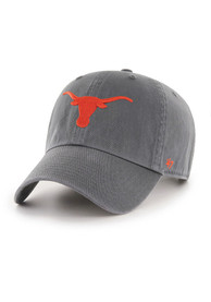 Texas Longhorns 47 Clean Up Adjustable Hat - Charcoal