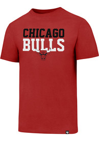 Chicago Bulls 47 Stacked Club T Shirt - Red