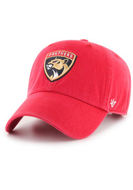 Florida Panthers 47 Clean Up Adjustable Hat - Red