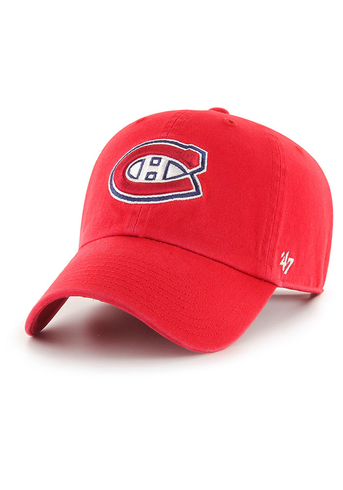 47 Montreal Canadiens Clean Up Adjustable Hat Red 48007314
