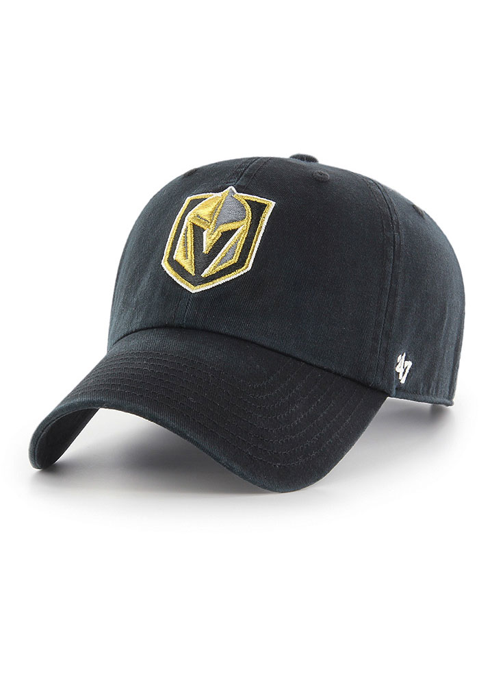 Vegas Golden Knights 47 Clean Up Adjustable Hat - Black