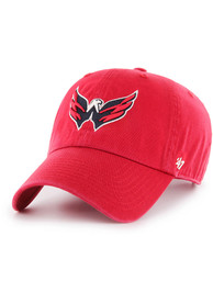 Washington Capitals 47 Clean Up Adjustable Hat - Red