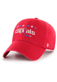 Washington Capitals 47 Alt Clean Up Adjustable Hat - Red