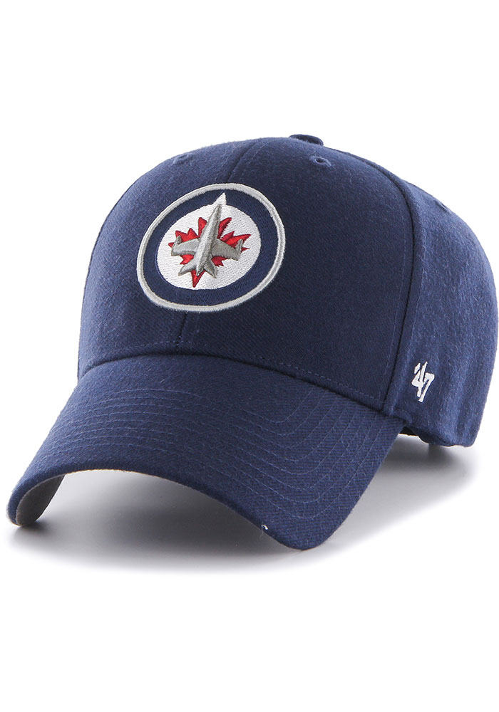 47 Winnipeg Jets MVP Adjustable Hat - Navy Blue - Image 1